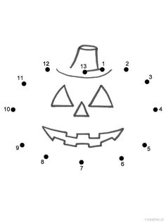 Pumpkin or Jack-o-Lantern - Connect the Dots by Capital Letters (Halloween) Dot To Dot Puzzles, Dotted Page, Pumpkin Jack, Connect The Dots, Jack O, Halloween, Worksheets, Letters, Activities