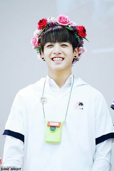 BTS Jungkook with flower crown #bts