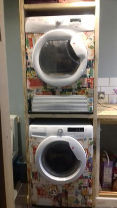 Vinyl wrap washing machine and drier