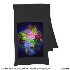 FLORAL VASE FOR SCARF ART PRINT