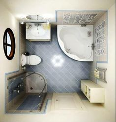 Inspirational Small Bathroom Ideas With Corner Tub Also Vanities As Well As Small Corner Amazing Showers In Tiny Bathroom Decors Bathroom Renos, Basement Bathroom, Bathroom Interior, Bathroom Vanities, Bathroom Plants, Bathroom Cabinets, Bathroom Plumbing, Ikea Bathroom, Restroom Cabinets