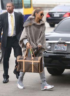 22263f0e7a4 Ciara wearing Air Jordan XII 12 Cool Grey Air Jordan Xii, Celebs,  Celebrities,