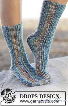 Вязание спицами носки поперечным вязанием