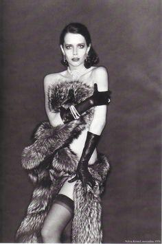 Sylvia Kristel. Photo by Helmut Newton.