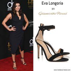 """Eva Longoria en sandales """"Portofino"""" signées Gianvito Rossi au Hollywood Film Awards à Los Angeles"""