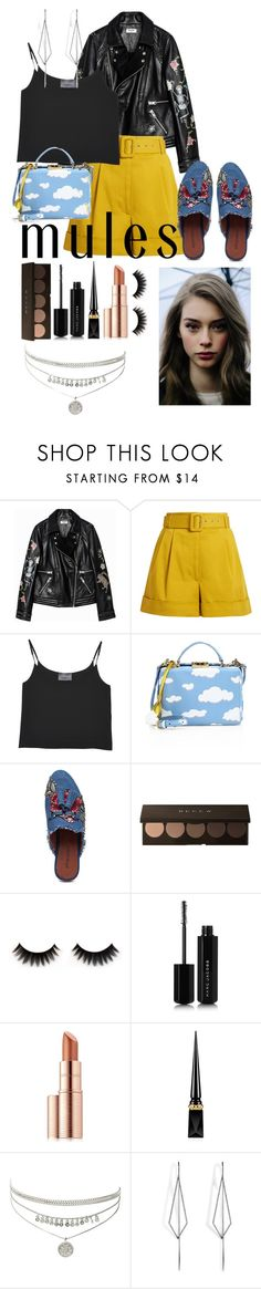 """""""Mules"""" by emily-barrett97 ❤ liked on Polyvore featuring Isa Arfen, Antipodium, Mark Cross, Jeffrey Campbell, Marc Jacobs, Estée Lauder, Christian Louboutin and Diane Kordas"""