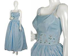 vintage 1960s powder blue silk gazar by MrsRobinsonsAffairs