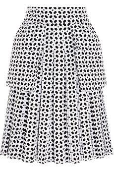 Alexander McQueen Bonded laser-cut cotton-poplin skirt | NET-A-PORTER