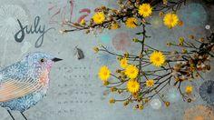 free calendar wallpaper!  Geninne's Art Blog: June 2012  bird art summer beautiful