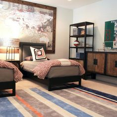 Boy's room designed by @Beth J Keim of Lucy and Company using Surya Chic Collection rug. (CHI-1040)