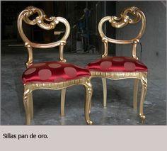 Sillas pan de oro