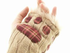 ADORABLE. Kawaii Hand Warmers in caramel beige with by PandorasPlayhouse, $124.99