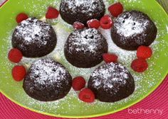 Bethenny's recipe for Molten Chocolate Cupcakes will give you what you want -- without the guilt! #PMS #Snack #Relief