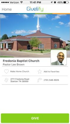 Fredonia Baptist Church in Stanton, Tennessee #GivelifyChurches