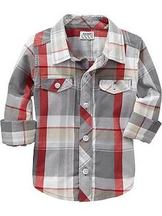 Plaid Poplin Shirts for Baby/Toddler for family pics