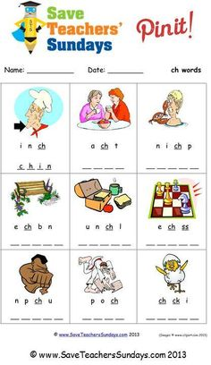 ch phonics worksheet (unscramble the letters) - http://www.saveteacherssundays.com/phonics/year-1/154/ch/ for other phonics activities, phonics worksheets, phonics lesson plans, phonics powerpoints, phonics word searches and phonics stories #phonics, #reading,  #teaching, #teachers, #teacher, #tutors, #tutor, #teach, #education, #learn, #learning, #primary, #elementary, #KS1, #kindergarten, #worksheets, #homework