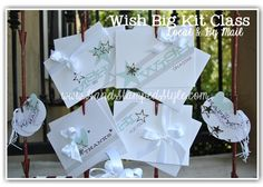 Wish Big Class with the Stampin' Up! Paper Pumpkin Kit created by http://www.handstampedstyle.com simple cards and cute packaging. Class available local and by mail.