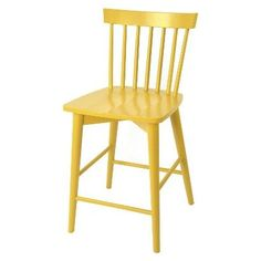 Target Windsor Counter Height stool in yellow. 24 inch seat height. Currently on sale for $64.79 each with code. Red, black, mint, teal, white, red gray also available.