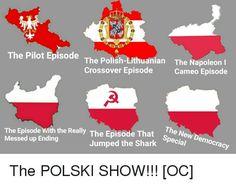 Poland Short Jokes Funny, Stupid Jokes, Good Jokes, Funny Tweets, Jump The Shark, Photo To Video, Joke Stories, Crossover Episodes, History Jokes