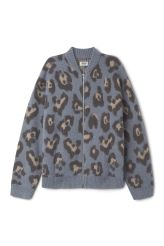 <p>The Eloise Jacquard Knit Bomber is a hybrid between a fluffy cardigan and a vibrant bomber jacket. The classic model with signature details such as a zip along the front and ribbed collar and welts comes in an ultra soft and fuzzy mohair blend. An all-over abstract animal print makes it a distinctive piece.<br /><br />- Size Small measures 120 cm in chest circumference,65 cm in length and53 cm in sleeve length. </p>