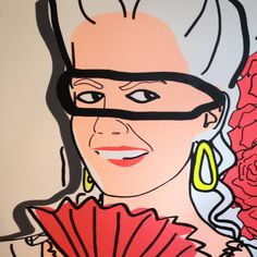 A pop art study of Marie Antoinette reflecting contemporary celebrity culture.