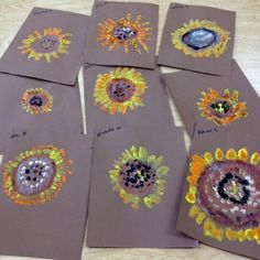 Art with Mr. Giannetto Van Gogh's Sunflowers  Each child paints one sunflower using a dabbing technique. Add brushstrokes with thick paint. Cut out each sunflower and add to a vase. Collaborative art.