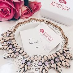Pastel Bouquet Statement Necklace - #fashion #picoftheday #fashionista #necklace - 24,90� @happinessboutique.com