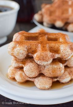 The cinnamon sugar waffles are quick, easy and perfect for busy mornings.