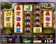 Rhino Video Slot at Cleos Vip Room the game is an African Safari, and the game symbols represent animals and adventurers with stacked wilds and symbols New Players Get $20 Free No Deposit required.