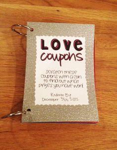 homemade coupon book for boyfriend