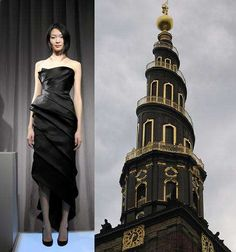Fashion Inspired by Architecture - Marchesa For Spires and Pagodas