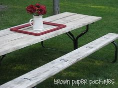 {picnic table...and winner!} - Simply Kierste