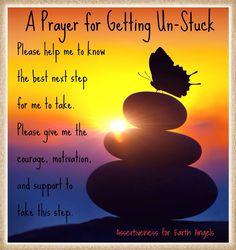 Prayer for getting unstuck