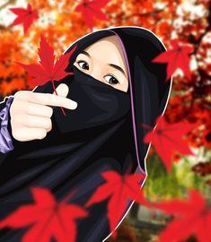 Muslim Girls, Muslim Couples, Muslim Women, Anime Muslim, Muslim Hijab, Crown For Women, Islamic Cartoon, Hijab Cartoon, Hijab Niqab