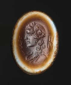 Oval gem with bust of wreathed Apollo   Museum of Fine Arts, Boston