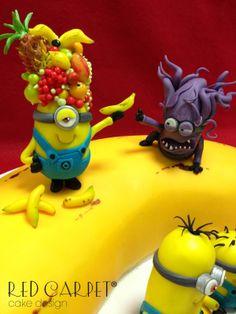 MINIONS CAKE( DESPLICABLE ME 2)- by Red Carpet Cake Design®