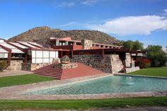 Frank Lloyd Wright's personal home, Taliesin West in Scottsdale, Arizona
