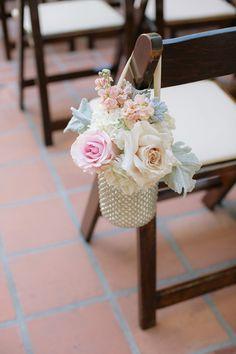 Vintage Wedding Ideas - Wedding floral aisle decor