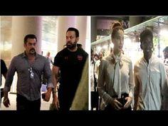 Salman Khan & rumoured girlfriend Lulia Vantur spotted at Mumbai Airport.