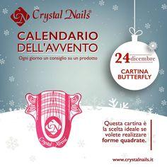 Calendario dell'avvento Crystal Nails - 24 dicembre #crystalnails #butterfly #ricostruzioneunghie