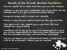 Beliefs of the Growth Mindset Facilitator