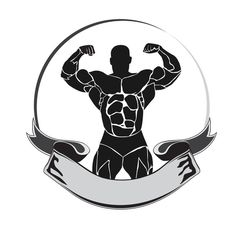 emblem, bodybuilder, icon by @Graphicsauthor