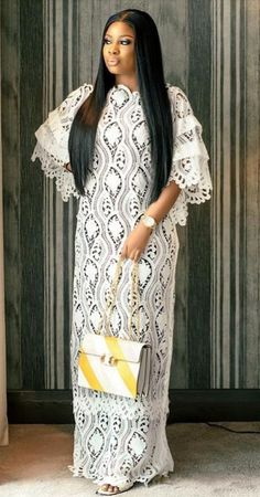 Nigerian Lace Styles Dress, Long African Dresses, African Lace Styles, African Fashion Ankara, Latest African Fashion Dresses, African Print Fashion, Lace Gowns, Lace Dress, African Blouses
