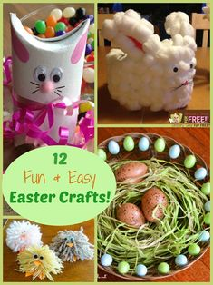 12 Fun And Easy Easter Crafts  Click here-->  http://www.groceryshopforfree.com/12-fun-easy-easter-crafts/
