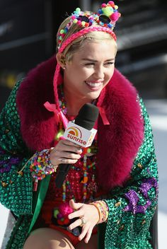 Miley Cyrus rocked a whole lot of color while performing at the Sydney Opera House on Oct 13, 2014