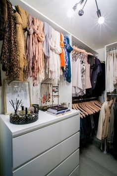 "But just because you have a closet that you can ""walk"" into, doesn't mean that you have a huge closet. So with this small walk-in closets organizers you can store a lot of items."