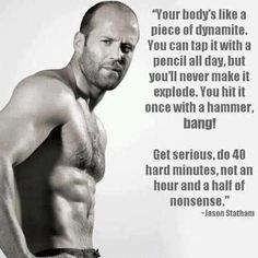 Jason Statham. Thats the body I want. ~ Re-Pinned by Crossed Irons Fitness