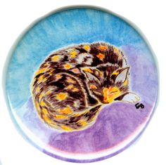 "Flat Art Pocket Mirror, pin or magnet ""Gwen"" Designs by Baerreis #DesignsbyBaerreis"