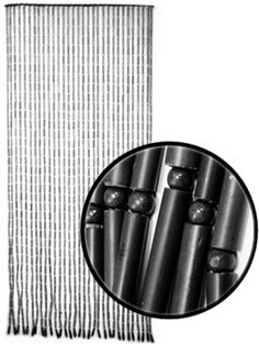 door beads bamboo - for life and style Bamboo Beaded Curtains, Door Beads, Doorway Curtain, Rave Gear, Hippy Room, Kitchen Window Treatments, Black Bamboo, Black Curtains, Beautiful Curtains