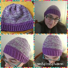 Marled sparkly knit slightly slouchy beanie Knit Crochet, Crochet Hats, Slouchy Beanie, Knitted Hats, Winter Hats, Knitting, Pattern, Fashion, Knitting Hats